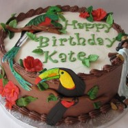 Rainforest birthday cake