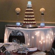 Muskoka wedding cupcake tower