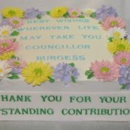Spring flowers retirement cake