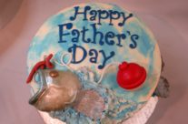 fishing father's day cake