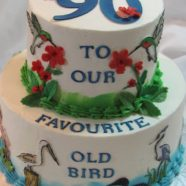 Bird lover's birthday cake