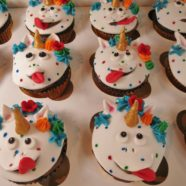 silly faces unicorn cupcakes