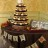 Muskoka fall cupcake tower