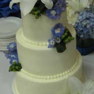 Blue & white wedding