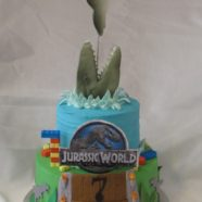 Jurassic World & Lego cake