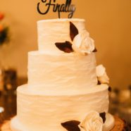 Rustic Muskoka buttercream wedding cake