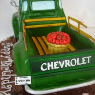 Old Chevy truck cake